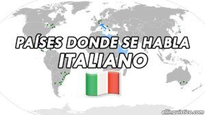 Países y regiones donde se habla italiano