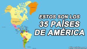 Estos son los 35 Países de América