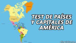 Test de capitales de los países de América y El Caribe