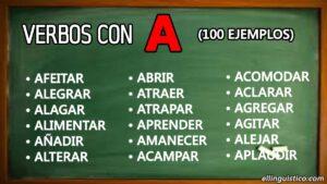 100 verbos en español que empiezan con «A»