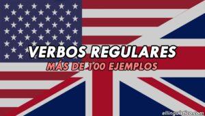 Lista de más de 100 verbos regulares en inglés