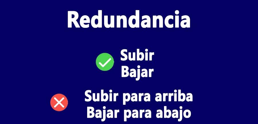 redundancia ejemplos