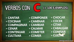 + 100 verbos en español que empiezan con «C»